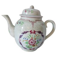 Calyx Ware Tea Pot Adams England Country Floral Hand Painted