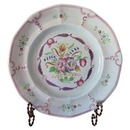 Adams Calyx Ware Hand Painted Dinner Plate Country Floral Design