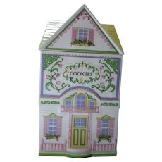 Lenox  Village Cottage Cookie Jar Fine Porcelain Handcrafted 1991 Taiwan