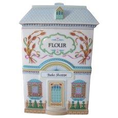 Lenox Village Bake Shoppe Porcelain Flour Canister 1990