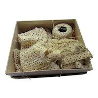 Box Hand Made Crochet Trims As Found