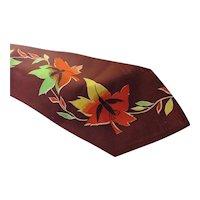 Unisex Neck Tie Fall Colors Orange Yellow Green Oak Leaves Pilgrim Cravats Brand