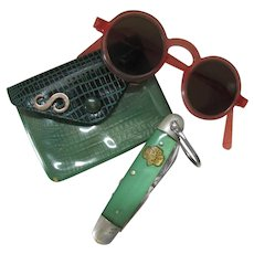Girl Scouts of America GSA Vintage Knife, Coin Purse Mid Century