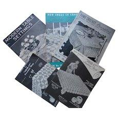 1930 Era Crochet Pattern Books & Pamphlets Table Linens