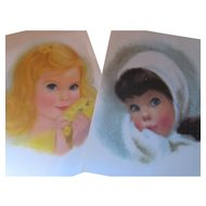 Northern Famous American Beauty Portraits Pastel Children Prints for Framing