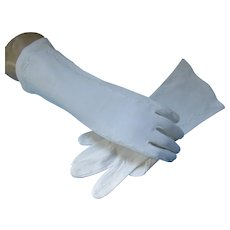 Mid Century White Cotton Gloves Wear Right Western Germany