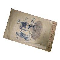 Victorian Era Cabinet Card Photo Lady Portrait Unusual Printed Vellum Overlay