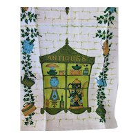 Kitchen Towel Pure Linen Never Used Antique Shoppe Theme Parisian Prints