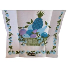 Kitchen Towel Pure Linen Never Used Fruit Bowl Theme