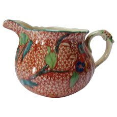 Masons Patented Ironstone Creamer in Unusual Orange Colorway