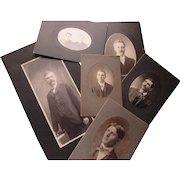 Victorian Edwardian Era Photographic Portraits of Handsome Men