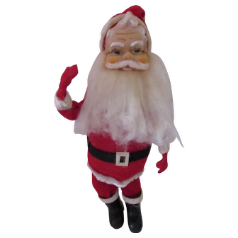Santa Claus by Dream Dolls R. Dalkin Company Made in Japan Red Suit Fluffy Beard 1960's