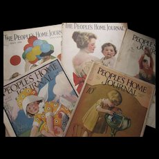 Six The People's Home Journal Magazines May Issues 1917. 1918, 1925, 1926, 1928