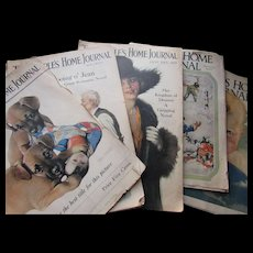 People's Home Journal Six January Issues 1917, 1918, 1919, 1927, 1928 and 1929 Cream of Wheat Ads