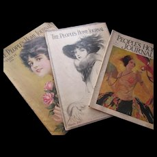 Peoples Home Journal Magazine March Issues 1917 1918 1928 Lovely Lady Covers Cream of Wheat Colgate Bon Ami Ads