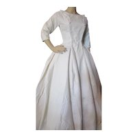 Elegant 1958 Wedding Gown in White Sharkskin by Pandora Provenance Included