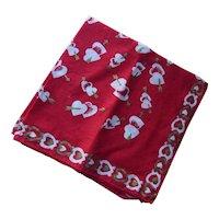 Valentine Handkerchief Red & Gold Hearts