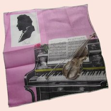 Handkerchief Homage to Haydn Composer by Lady Heritage Made in Switzerland