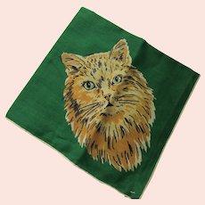 Handkerchief Hankie Long Haired Orange Tabby Cat