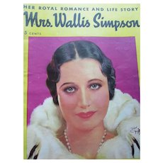 Wallis Simpson Duchess of Windsor 1936 Life Story