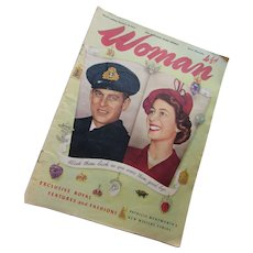 1952 Woman Magazine Princess Elizabeth and Prince Philip Australia Tour