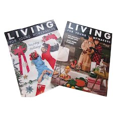 Living for Young Homemakers Magazine 1950's Fashions Architecture Home Goods