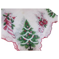 Christmas Handkerchief Tree Stockings Candy Canes