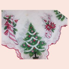 Christmas Handkerchief Tree Stockings Candy Canes