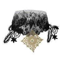 Vintage Laces & Appliques Black and Cream