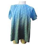 Very Old Toddler Faded Blue Calico Dress Prairie Style