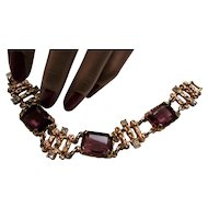 Sarah Coventry Bracelet Twilight Design from 1970's Faux Amethyst Stones