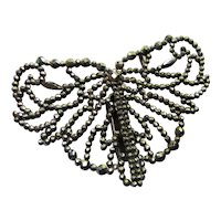 Cut Steel Buckle Butterfly Design Early 20th Century