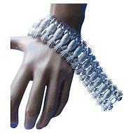 Simply Elegant Sarah Coventry Silver Tone Bracelet in Pineapple Pattern 1960's