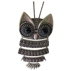 Articulated Owl Pendant Necklace SHB Mark