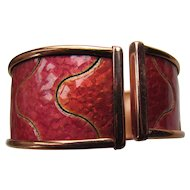 Matisse Renoir Clamp Bracelet in Copper and Persimmon Enamel