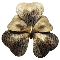 Winard Brooch Orchid Design in 1/20 12K Gold Filled 1940's 1950's Jewelry