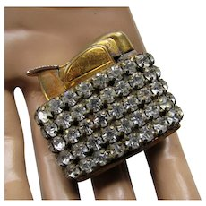 1950 Era Ladies Lighter Banded in Rhinestones Ronson Patent