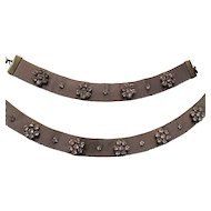 Mesh Buckle Style Choker Necklace and Bracelet with Rhinestone Decoration