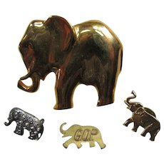 Elephant Theme Brooches Pins GOP Political Lapel Pin