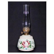 Antique Custard Glass Oil Lamp