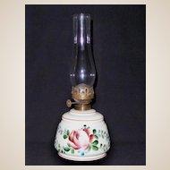 Antique Custard Glass Oil Lamp