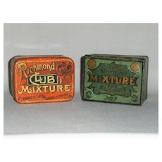 Pair of Tobacco Tins