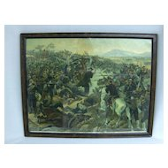 "Vintage Chromolitho of ""Battle of Yalu"""