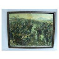 """Vintage Chromolitho of """"Battle of Yalu"""""""