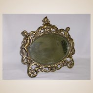 Victorian Gilt Bronze Mirror