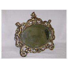 Victorian Gilt Bronze Mirror