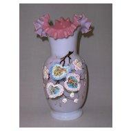 Victorian Opaline Glass Vase