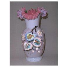 Rare Victorian Opaline Glass Vase