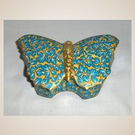 Antique Butterfly Trinket Box
