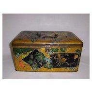 Rare Chinoiserie Tin Box